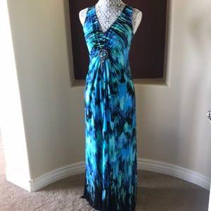 Multi colored maxi dress